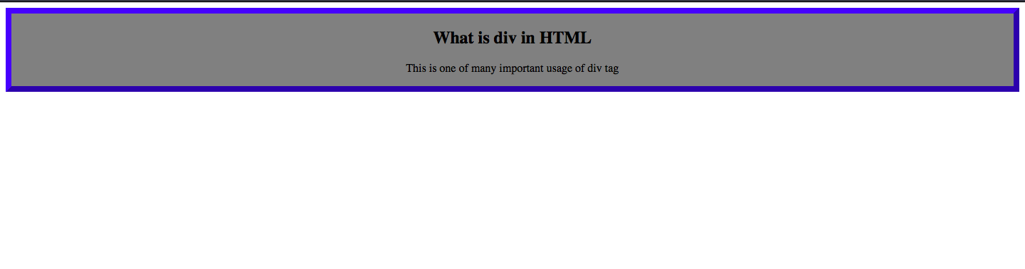 What Is div In HTML?