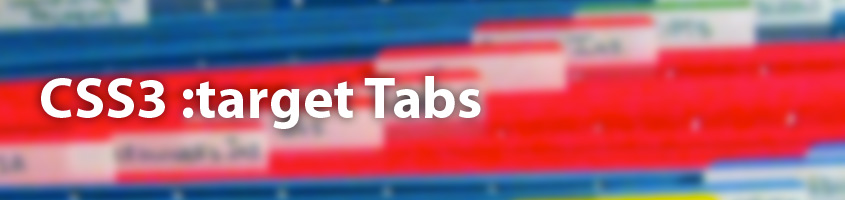 CSS3 :target tabs
